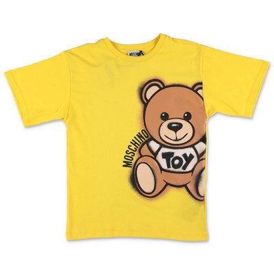 MOSCHINO Teddy Bear yellow cotton jersey t-shirt