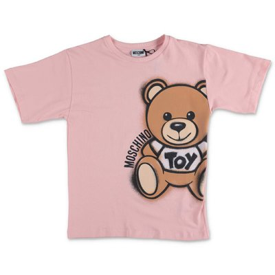 MOSCHINO pink Teddy Bear cotton jersey t-shirt