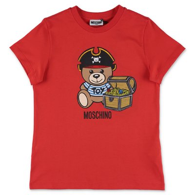 MOSCHINO Teddy Bear red cotton jersey t-shirt