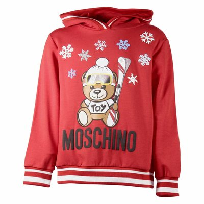 Teddy Bear red cotton sweatshirt hoodie