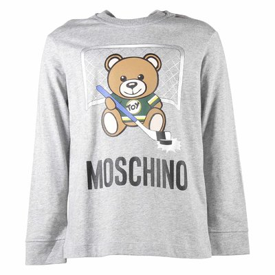Teddy Bear melange grey cotton jersey t-shirt