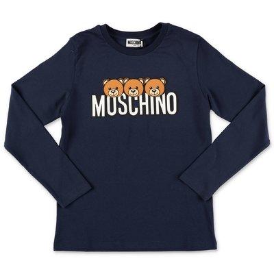 Moschino t-shirt blu navy in jersey di cotone