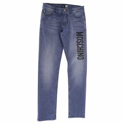 Jeans in cotone denim stretch con logo
