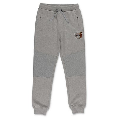 Moschino melange grey cotton sweatpants