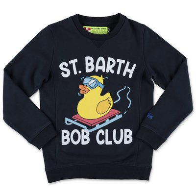 MC2 Saint Barth navy blue cotton sweatshirt