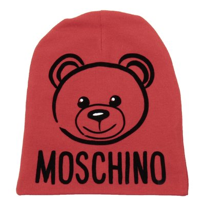 Red logo detail cotton hat