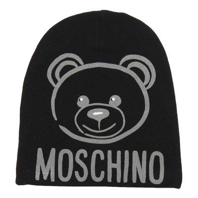 Cappello nero in cotone con logo