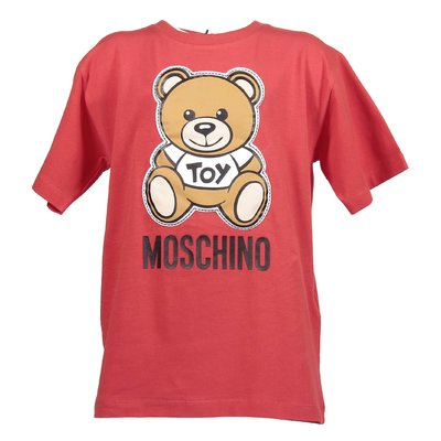 Red cotton jersey Teddy Bear t-shirt