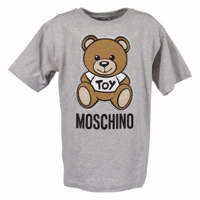 Melange grey cotton jersey Teddy Bear t-shirt