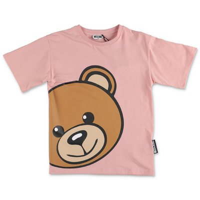 MOSCHINO t-shirt rosa Teddy Bear in jersey di cotone