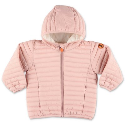 Save The Duck pink nylon down jacket with hood