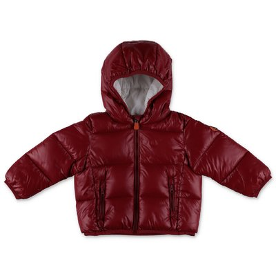 Save the Duck red nylon down jacket with hood