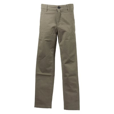 Military green cotton gabardine chino trousers