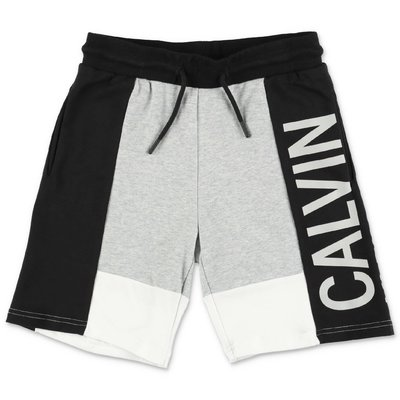 Calvin Klein shorts color block in felpa di cotone e modale