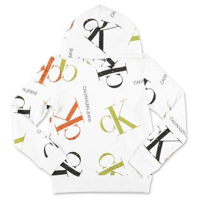 Calvin Klein white printed hoodie