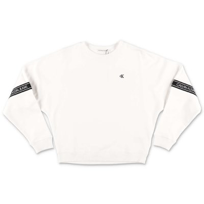 Calvin Klein white organic cotton sweatshirt
