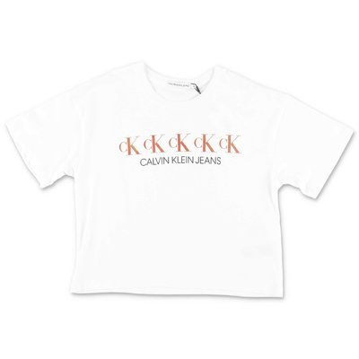 Calvin Klein white cotton jersey t-shirt