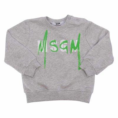 Marled grey logo cotton sweatshirt