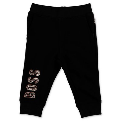 Hugo Boss logo black cotton sweatpants