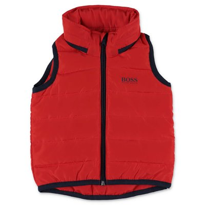 HUGO BOSS red nylon vest