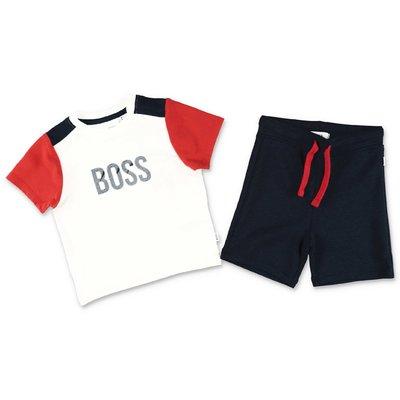 White t-shirt blue shorts HUGO BOSS baby boy set