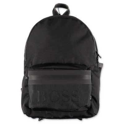 Hugo Boss black logo detail nylon backpack