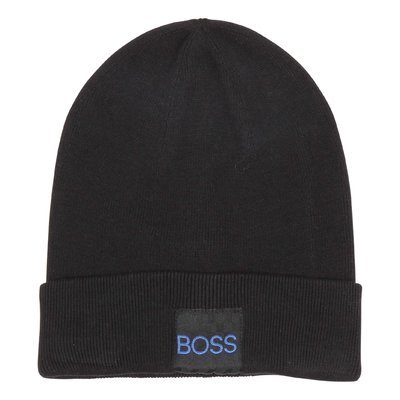 Hugo Boss cotton ribbed knit beanie