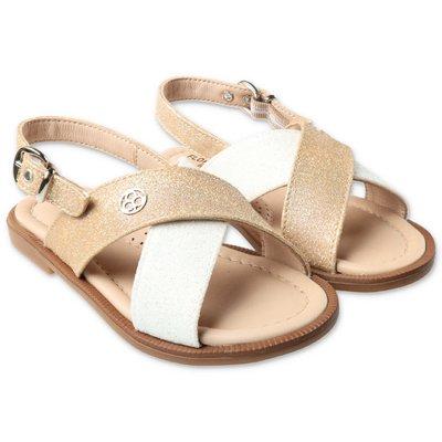 FLORENS golden glittered sandals