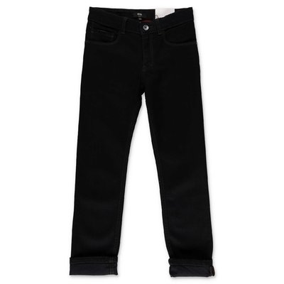 Hugo Boss jeans nero in denim di cotone stretch