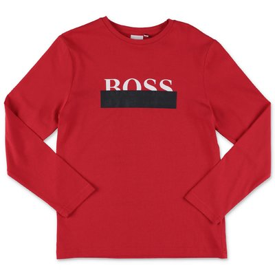 Hugo Boss t-shirt rossa in jersey di cotone