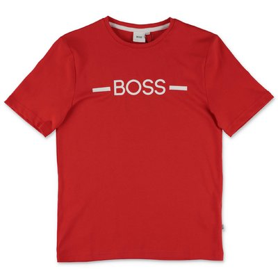 Hugo Boss red cotton jersey t-shirt