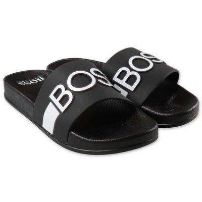 HUGO BOSS sandali neri in gomma