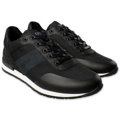 Hugo Boss sneakers nere in microfibra traspirante