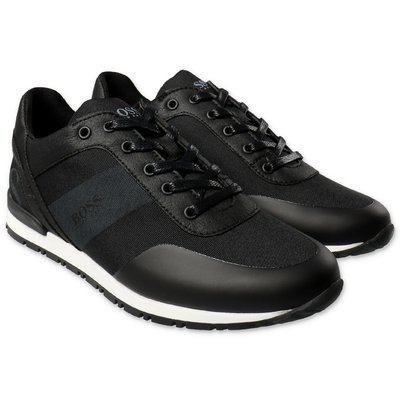 Hugo Boss black perspiring microfiber sneakers