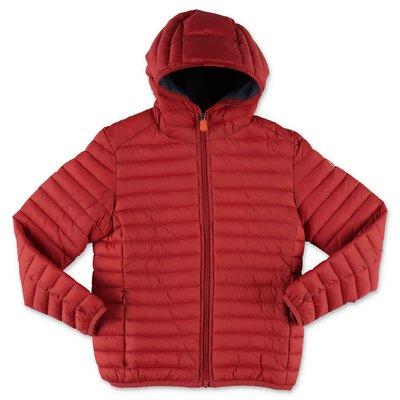 Save The Duck piumino rosso in nylon con cappuccio