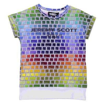 Multicolor print cotton jersey t-shirt