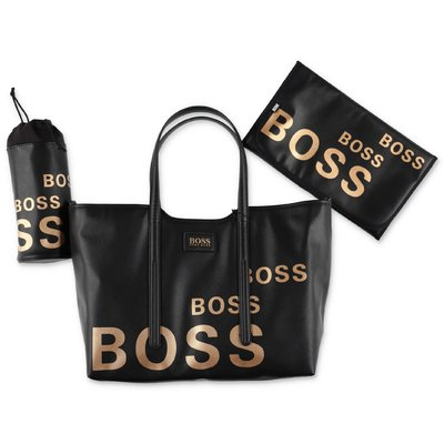 Hugo Boss borsa cambio nera in nylon