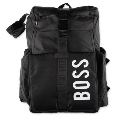 HUGO BOSS black nylon backpack shape bag