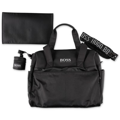 Hugo Boss black nylon changing bag