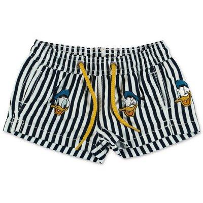 MC2 Saint Barth costume shorts da mare Disney a righe in nylon