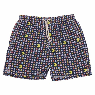 Costume shorts da mare blu in nylon