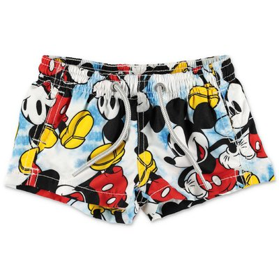 MC2 Saint Barth Micky Mouse print recycled nylon swimwear shorts