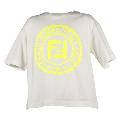 White FF logo detail cotton jersey t-shirt