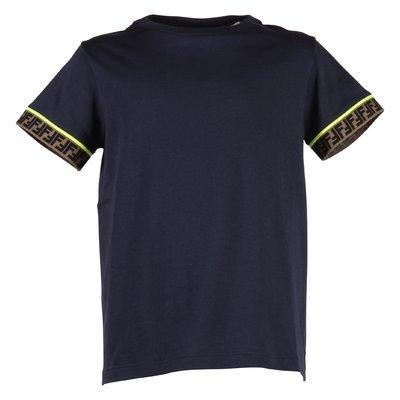 T-shirt blu navy in jersey di cotone con dettaglio logo