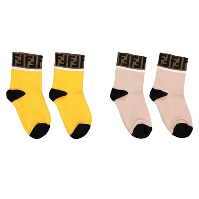 FENDI stretch cotton socks