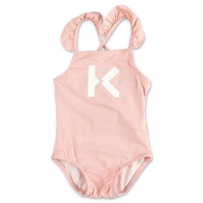 KENZO pink spandex one piece swimsuit