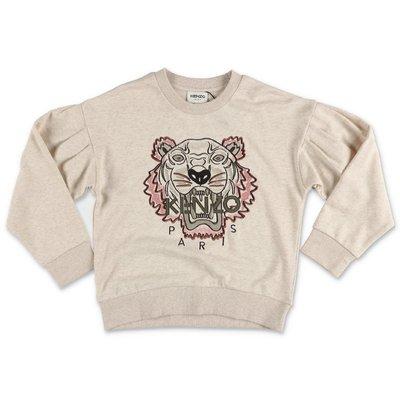 KENZO beige cotton Tiger sweatshirt