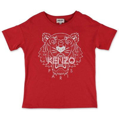 KENZO t-shirt rossa in jersey di cotone