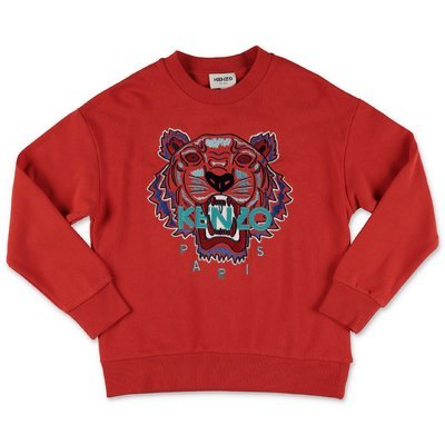 KENZO red cotton Tiger sweatshirt