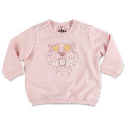 KENZO pink cotton Tiger sweatshirt